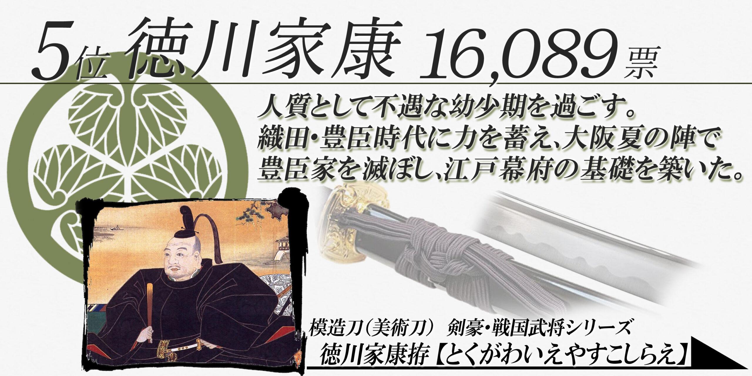 5位 徳川家康
