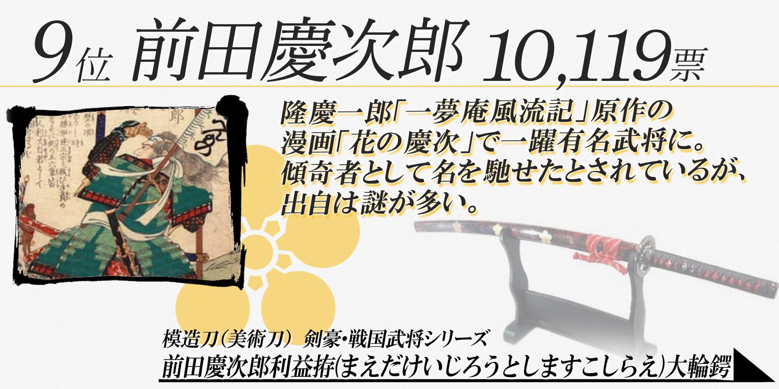 9位 前田慶次郎